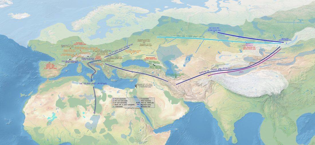 palaeolithic-migrations