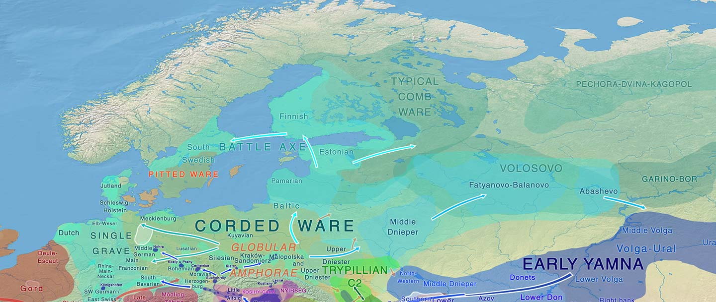 Pre-Germanic and Pre-Balto-Finnic shared vocabulary from Pitted Ware seal hunters