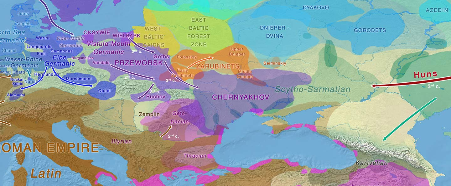 Common Slavs from the Lower Danube, expanding with haplogroup E1b-V13?