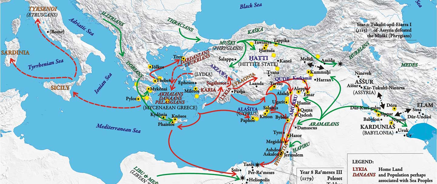 Sea Peoples behind Philistines were Aegeans, including R1b-M269 lineages