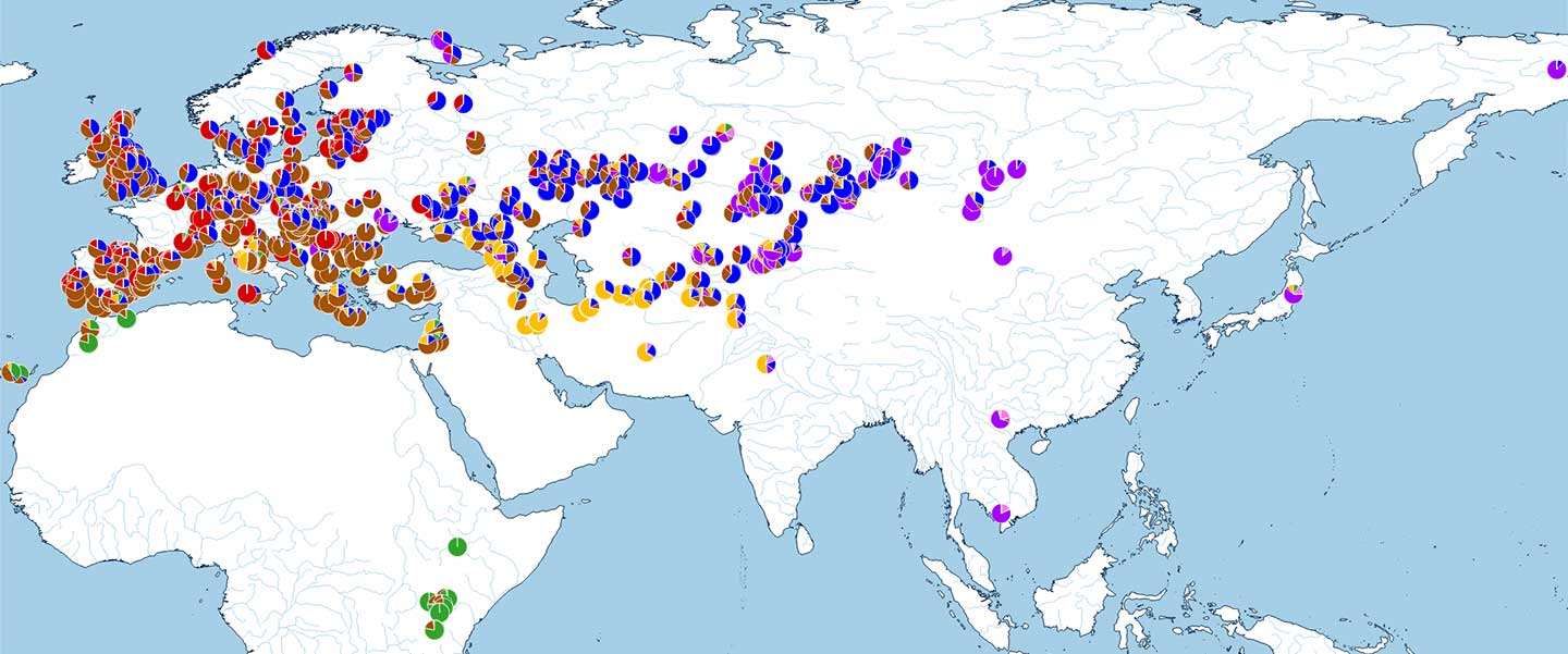 Spread of Indo-European and Uralic speakers in ADMIXTURE