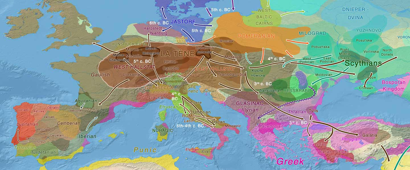 European hydrotoponymy (VII): Celtic From the West or the East?
