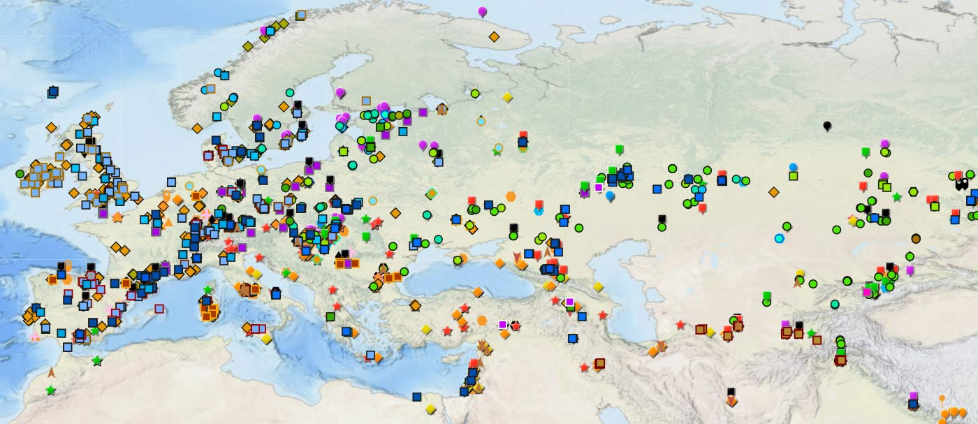 Online GIS maps of ancient Y-DNA, mtDNA and ADMIXTURE