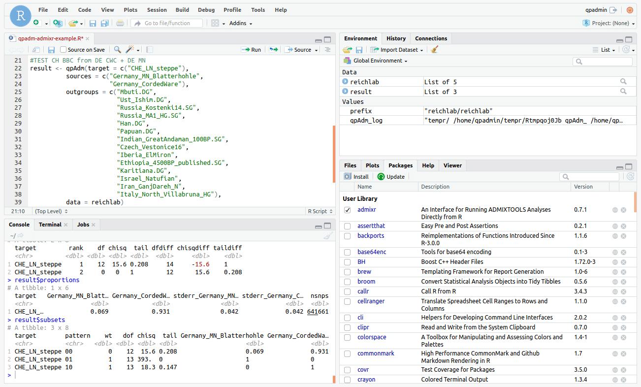rstudio-online-admixr-qpadm-screenshot