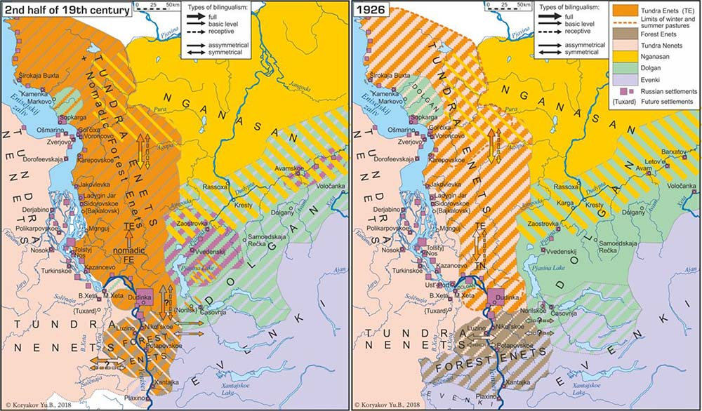 recent-indigenous-languages-lower-yenisei-evolution