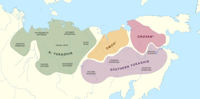 yukaghir-dialects-map