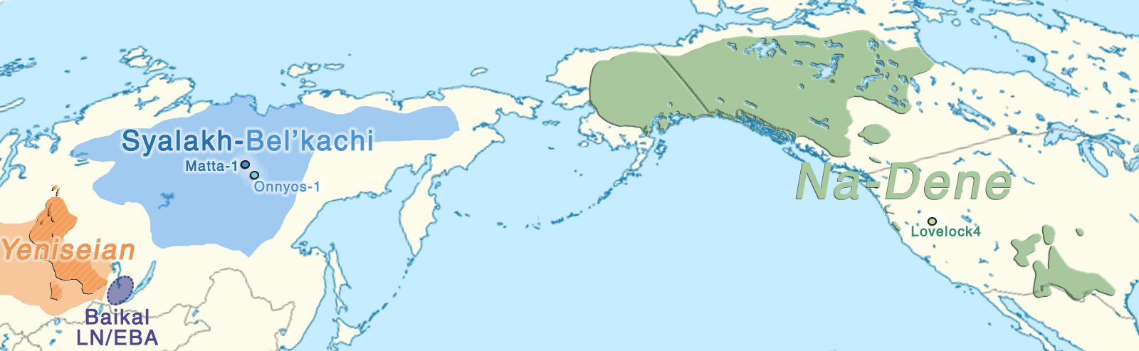 dene-yeniseian-language-map