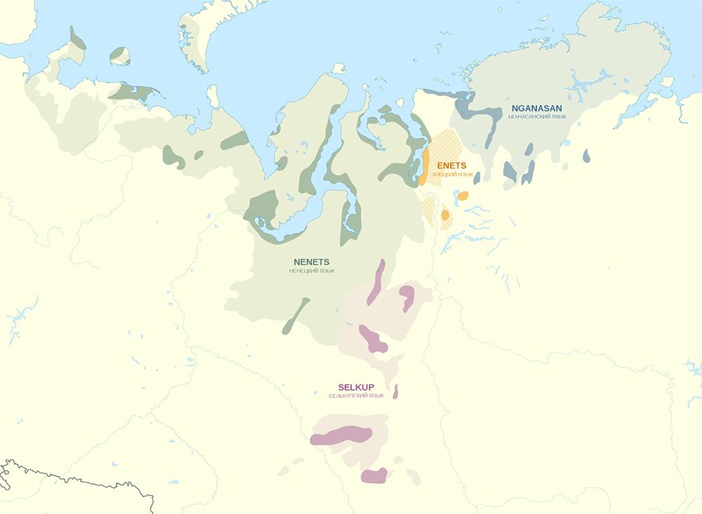 samoyedic-languages-map