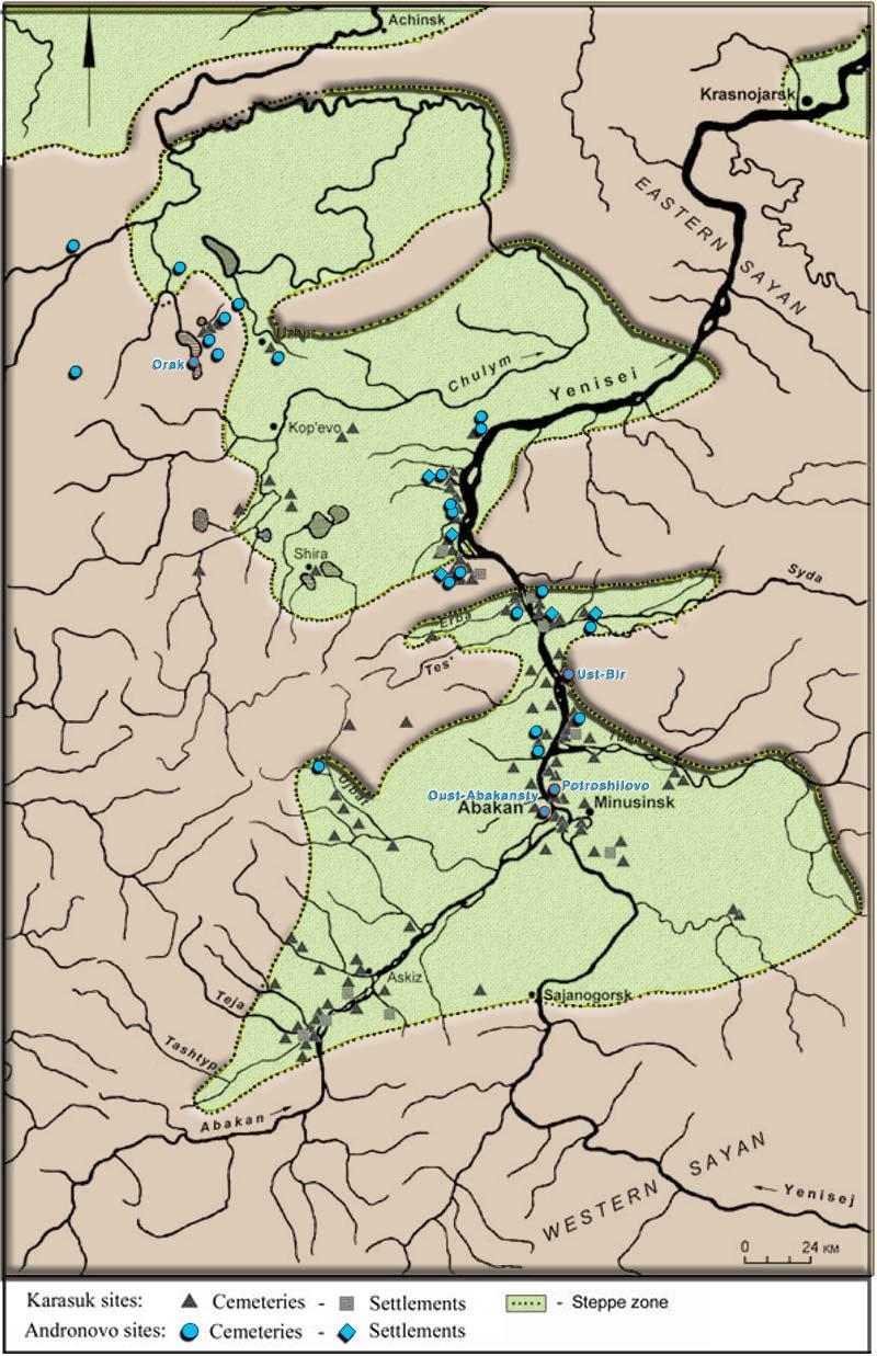 andronovo-minusinsk-basin-map